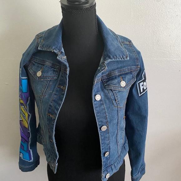 Fortnite Girl Jean Skin Jackets Coats Vintage Custom Fortnite Jean Jacket Poshmark